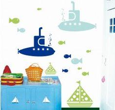 Vinilo submarino - my little submarine - Infantil