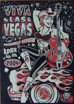 Viva Las Vegas Rockabiily Flyer - Number 7 - 2004. by MICKSIDGE, via Flickr