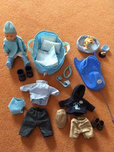 Baby born Mini  Boy, Puppe mit Kleidung, Schlitten etc... TOP!!!