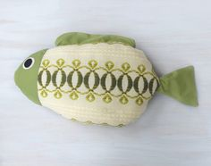 Fish pillow Kids room decor Nautical pillow Lake by Florfanka