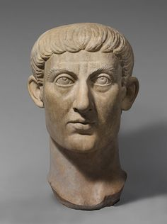 Roman marble portrait bust of Emperor Constantine I, Late Antique period, ca. 324–337. The Metropolitan Museum of Art, New York.