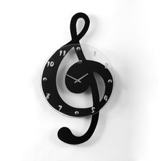 Ashton Sutton CX1623 Musical Clef Wall Clock | ATG Stores