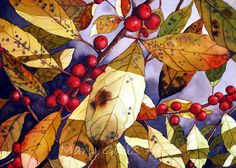 Leaves | Mary Gibbs Art; lots of great ideas for subject matter.