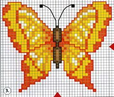 Много бабочек / Схемы вышивки крестом