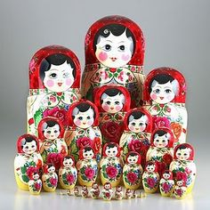 giving daughters matryoshka dolls as a reminder of the generations of wonderful women who have gone before them and love them and want them to succeed