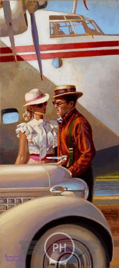"#PeregrineHeathcote ""Explorers"" 18"" x 8"" Oil on canvas"