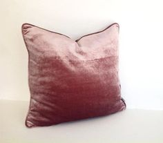 Dusty Rose Throw Velvet Pillow Cover Dusty Pink by CushionsandMore