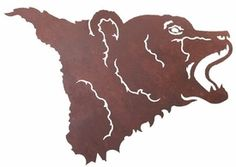 Bear Head Metal Wall Art