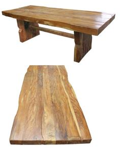 "DR50 4"" thick table made from recycled wood from old barns, wood beams and floor boards. You could park a car on this amazing table that will last for generations to come. Available at www.SanDiegoRustic.com"
