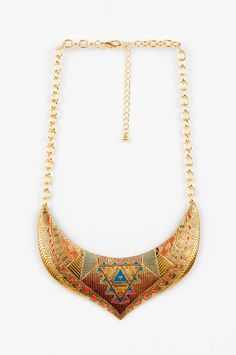 Ana Accessories  Egyptian Crest Bib Necklace