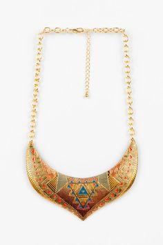 Ana Accessories  Egyptian Crest Bib Necklace