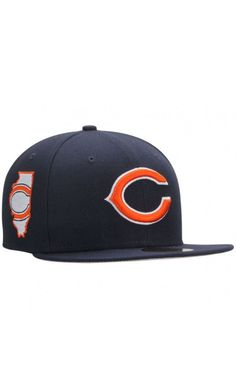 c24b80e80 NFL Men s Chicago Bears New Era Navy State Clip 59FIFTY Fitted  Hat   EURO2016 Super