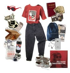 """you were red,"" by nadyaarw on Polyvore featuring OUTRAGE, Andy Warhol, Levi's and Converse"