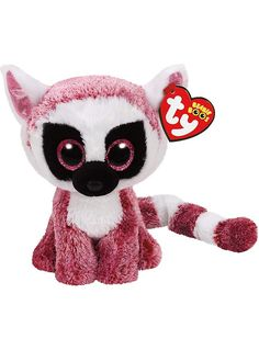 TY - Leeann pink lemur beanie boo 15cm  dfcdc186658b