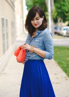 Love when my favorite color is a trend for the season: cobalt blue!