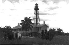 Sanibel Island lighthouse and keepers' quarters, 1930s, Lee County, Florida Florida Memory.