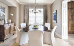 A sophisticated Austin abode's elegant #diningroom. | See MORE at www.luxesource.com. | #luxemag #interiordesign #design #interiors #homedecor