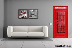 Naklejka na drzwi angielska budka telefoniczna. http://www.wall-it.eu/product/doors/architektura/fototapeta-na-drzwi-naklejka-budka-telefoniczna.jpg #fototapeta #fototapety #sticker #stickers #telephone #telefon #budka #red #czerwony #aranzacja #drzwi #door #mural #murals