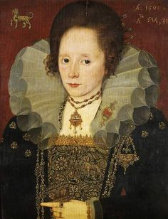 Unknown Lady - English (1590 is noted on the painting).