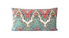 Waverly India Palace Sari Jewel Decorative Pillow Cover - Both Sides - 10x20, 12x16, 12x20, 14x18, 14x24, 16x16, 18x18, 20x20, 22x22, 24x24 by PillowTimeGirls on Etsy https://www.etsy.com/listing/490432118/waverly-india-palace-sari-jewel