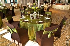 Wedding Reception Set-Up at The Naples Beach Hotel & Golf Club