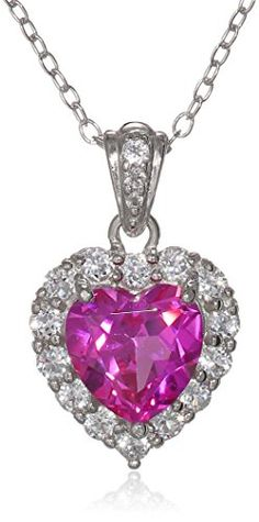 Platinum Plated Sterling Silver Created Pink Sapphire and White Topaz Halo Heart Pendant Necklace http://www.amazon.com/dp/B00MCK373I/ref=cm_sw_r_pi_dp_FQIyub1DR1XAR