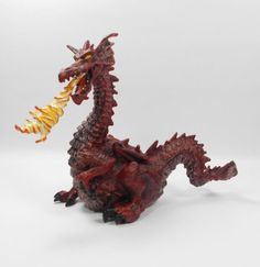 Papo - Red Dragon - Toy Figure - Medieval - Knights - Papo 1999