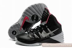 new concept 88b44 07c0b New Black Grey Pink Nike Hyperdunk 2013 Factory Outlet