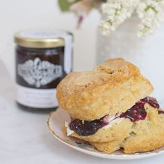 Clotted Cream Filled Jam & Scone Sammie / Kitten and the Bear