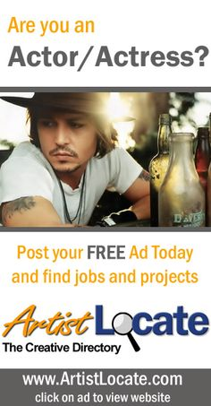 www.artistlocate.com - Are you an actor or actress and want to make money? Post your ad on our site and receive jobs in projects for graphic and website design, programming, acting, singing and musicians, modelling, painting, photography and more! Creative Jobs, Free Ads, Find A Job, Programming, Actors & Actresses, Musicians, Acting, How To Make Money, Singing