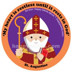 St. Augustine (354 - 430) is a great teacher of Christianity. As a young man living in North Africa, he spent his time enjoying worldly pleasures. Through his mother, St. Monica's prayers and Bishop St. Ambrose's advice, St. Augustine eventually believed in Jesus and changed his behaviour. He became a priest and later, the Bishop of Hippo. He wrote many books about God, inspiring generations and converted many. His feast day is on 28 August.