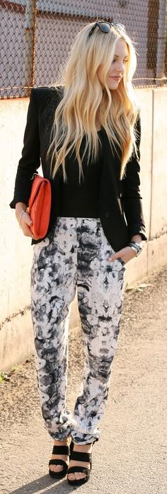 floral pants for the sophisticate