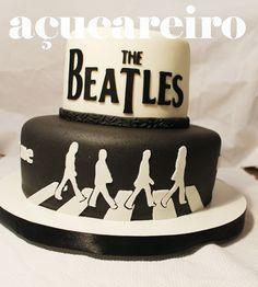 The Beatles Cake Bolo Dos Beatles, Beatles Cake, The Beatles, Fancy Cakes, Cute Cakes, Beatles Birthday Party, Birthday Stuff, Happy Birthday, Cake Cookies