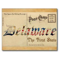 Shop Vintage Look Delaware Old Postcard created by creativecard. Photo Postcards, Vintage Postcards, Christmas Gifts For Mom, Message Card, Delaware, Postcard Size, Boyfriend Gifts, Vintage Looks