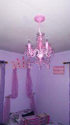 Gypsy Color GYSMPK Sall 4 Arm Acrylic Crystal Chandelier, Pink