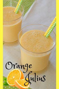 Orange Julius- A refreshing alternative to plain orange juice. Orange Julius with it's creamy texture and rich flavor will cool you down and satisfy your sweet tooth! via @https://www.pinterest.com/mindeescooking/ #orangejulius #orangedrink #beverages #drinks