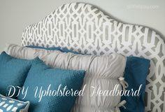 DIY Upholstered Headboard #stencil