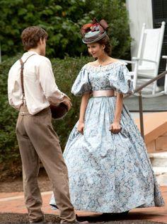 Paul Wesley as Stefan Salvatore and Nina Dobrev as Katherine Pierce in The Vampire Diaries (TV Series, 2009).