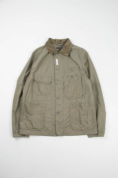 Olive Nyco Reversed Sateen Coverall Jacket | Engineered Garments