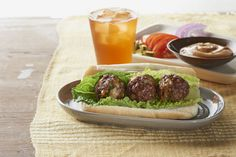 Imagine the flavor of your fave BBQ cheeseburger tucked into savory meatballs, then assembled into warm, sauce-topped subs. Sound good? It is!