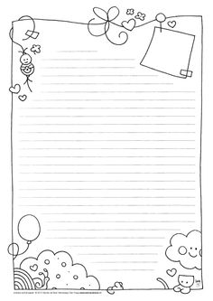 Free note paper to print . - Do it yourself - # express # . - Free note paper to print … – Do it yourself – - Printable Paper, Stationary Printable, Note Paper, Smash Book, Journal Cards, Free Printables, Coloring Pages, Doodles, Illustrations