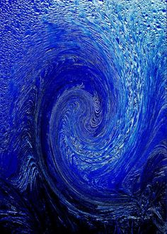 Blue Ice Twirl-1 Greeting Card for Sale by Steve Somerville