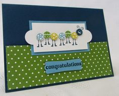 Stampin Up, Love Bug, Baby card