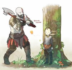 See more 'God of War' images on Know Your Meme! Video Game Memes, Video Games Funny, Funny Games, King's Quest, Game Character, Character Design, Funny Gaming Memes, Kratos God Of War, Fan Art