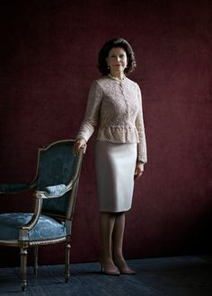New official Portrait of Queen Silvia on the occasion of  her 70th birthday.