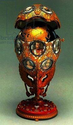 ronanov fabege pic | The Romanov Tercentenary Faberge Egg, 1913 (mixed media) by Vigstrem ...