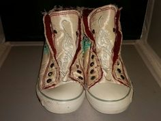 Preowned Ed Hardy White Hightops Size 7 | Clothing, Shoes & Accessories, Women's Shoes, Athletic | eBay!