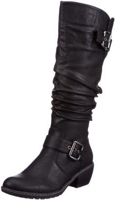 Zapatos de mujer. Rieker 90754-00 90754-00 - Botas clásicas para mujer, color negro