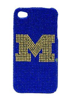 Michigan Wolverines iPhone Case - Glitz 4G Faceplate