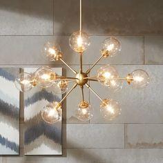 Art Deco Chandelier, 3 Light Chandelier, Sputnik Chandelier, Bubble Chandelier, Empire Chandelier, Antique Chandelier, Antique Lighting, Estilo California, Retro Lampe